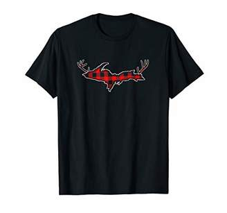 Buffalo David Bitton Michigan Peninsula Check Yoopers Hunter Plaid T-Shirt