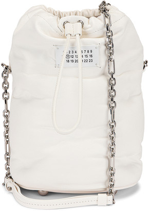 Maison Margiela Glam Slam Bucket Bag in White | FWRD