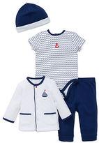 Little Me Four-Piece Nautical Bodysuit Set