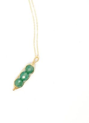 I'mmany London Garden Peas Necklace - Green Chrysoprase