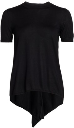 Comme des Garcons High-Low Ruffle Back T-Shirt