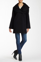 Cinzia Rocca Shawl Collar Wool Coat