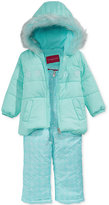 London Fog 2-Pc. Hooded Jacket & Snow Pants Set, Little Girls (2-6X)