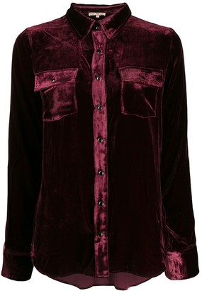 Gold Hawk Crushed Velvet Shirt