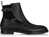 Alexander Mcqueen Monk-strap Leather And Suede Boots