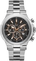 GUESS Men's GC Silver & Black Timepiece