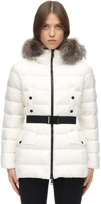 Moncler Clion Down Jacket W/ Fox Fur Collar