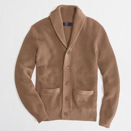 J.Crew Factory Factory textured shawl-collar cardigan