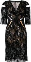 Talbot Runhof North Way dress - women - Silk/Polyamide/Polyester/Spandex/Elastane - 34