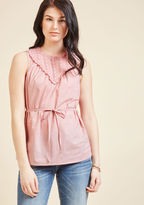 ModCloth Fashion Your Fairytale Sleeveless Top in Rose in 2X