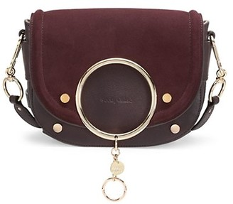 See by Chloe Mara Suede & Leather Saddle Bag