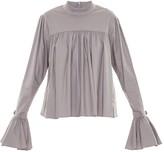 Framed ruffled blouse