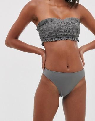 UNIQUE21 shirred bikini bottoms