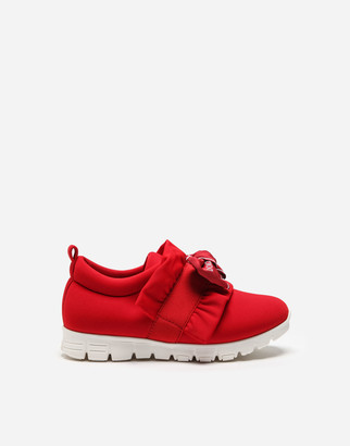 Dolce & Gabbana Lycra Sneakers With Bow