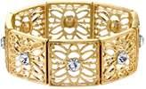 1928 Round Stone Filigree Stretch Bracelet
