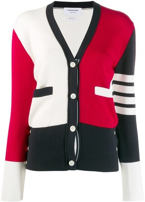 Thom Browne 4-Bar colour-block cardigan