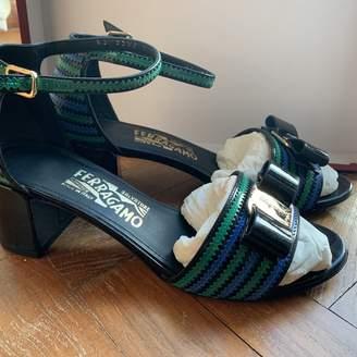 Salvatore Ferragamo Green Patent leather Sandals