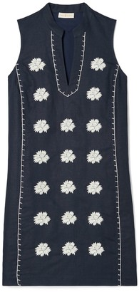 Tory Burch Embroidered Sleeveless Beach Dress