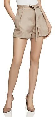 BCBGMAXAZRIA Pleated Paperbag-Waist Shorts