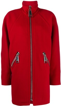 Moschino Oversized Zip-Up Coat