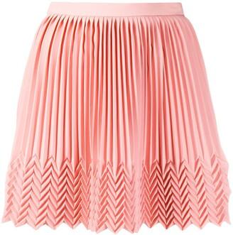 Marco De Vincenzo Pleated Mini Skirt