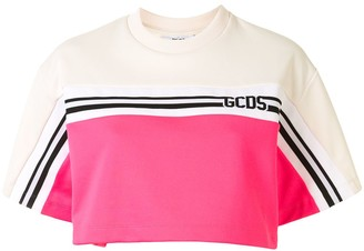 GCDS New Track cropped T-shirt