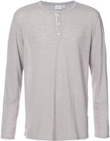Onia Miles henley T-shirt - men - Linen/Flax/Polyester - S