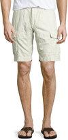Robert Graham Hiker Linen/Cotton Cargo Shorts, Ash
