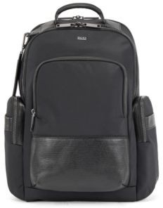 HUGO BOSS Multi-pocket backpack with monogram address tag