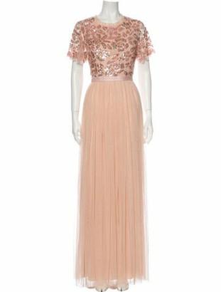 Needle & Thread Crew Neck Long Dress w/ Tags Pink