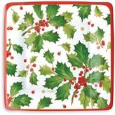 Caspari Gilded Holly Salad/Dessert Paper Plates, 8 Pack