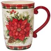 Certified International Winter Field Notes Poinsettia Pitcher