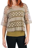 @Model.CurrentBrand.Name dylan Floaty Lace Shirt - 3/4 Sleeve (For Women)