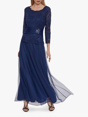 Gina Bacconi Itati Maxi Dress, Navy