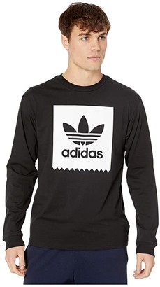adidas Skateboarding Blackbird Long-Sleeve Tee (Black/White) Men's Long Sleeve Button Up