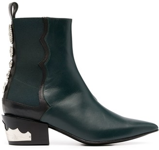 Toga Pulla Western-stud ankle boots
