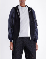 Sacai Hooded shell bomber jacket