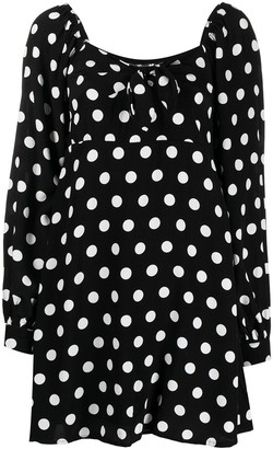 Faithfull The Brand Polka-Dot Long-Sleeve Dress