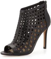 Charles David Infusion Caged Leather Bootie, Black