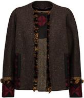 Etro Embellished paneled wool-blend jacket