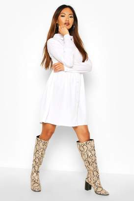 boohoo Shirt Smock Dress