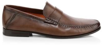 Santoni Paine Leather Loafers