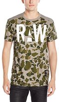 G Star Men's Warth Mesh Camo Short Sleeve T-Shirt