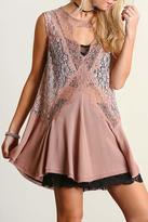 Umgee USA Sleeveless Lace Tunic