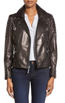 Vince Camuto Genuine Leather Moto Jacket