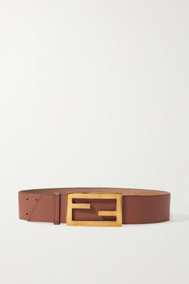 Fendi Leather Waist Belt - Brick