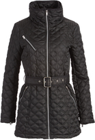 Andrew Marc Black Cassidy Quilted Coat