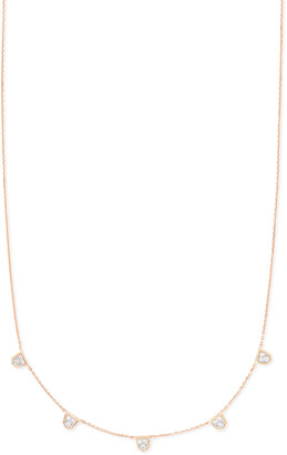 Kendra Scott Shannon Collar Necklace in White Diamonds