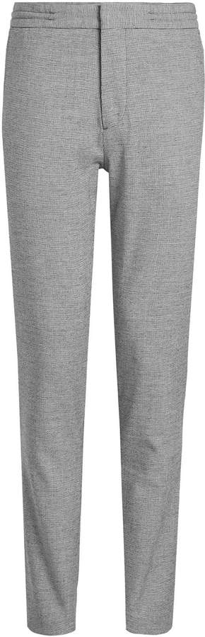 Burberry Printed Cotton and Wool Pants