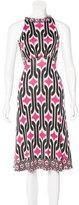 Diane von Furstenberg Silk Abstract Print Dress